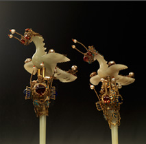 Jade Hairpins with Phoenix Decorations used by the Consort of Imperial Prince Yeong 이미지