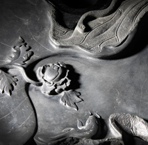 Large Inkstone in Lotus Leaf Design 이미지